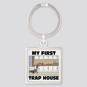 My First Trap house Square Keychain