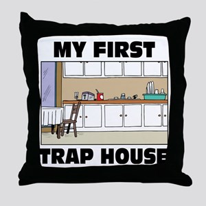 My First Trap house Throw Pillow