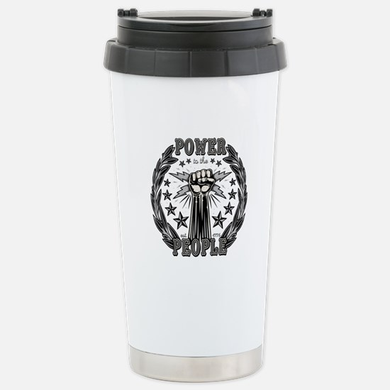 Power to the People 071 Stainless Steel Travel Mug