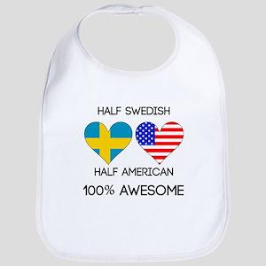 Half Swedish Half American Bib