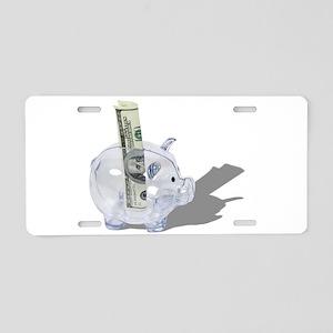 MoneyPiggyBank092110 Aluminum License Plate
