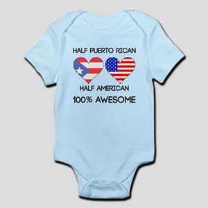 Half Puerto Rican Half American Body Suit