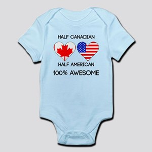 Half Canadian Half American Body Suit