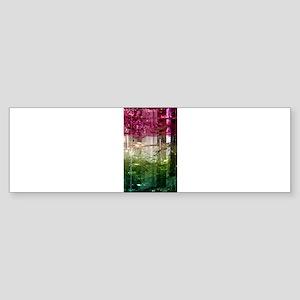 Elbaite-Melon-Crystal-Art Bumper Sticker