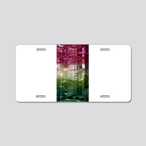 Elbaite-Melon-Crystal-Art Aluminum License Plate