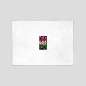 Elbaite-Melon-Crystal-Art 5'x7'Area Rug