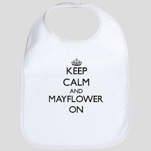 Keep calm and Mayflower Massachusetts ON Bib