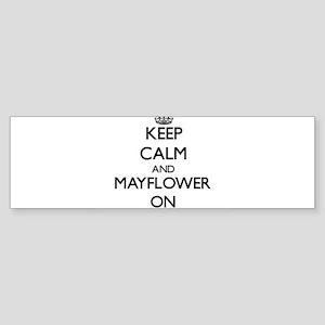 Keep calm and Mayflower Massachuset Bumper Sticker