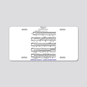 Moonlight-Sonata-Ludwig-Bee Aluminum License Plate