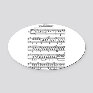 Moonlight-Sonata-Ludwig-Beethoven Oval Car Magnet