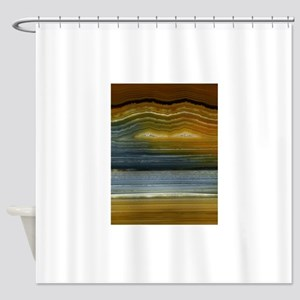 Agate-Mineral Shower Curtain