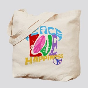 Peace Love and Happiness #P1 Tote Bag
