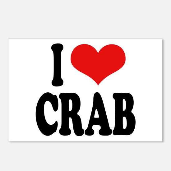 I Love Crab Postcards (Package of 8)