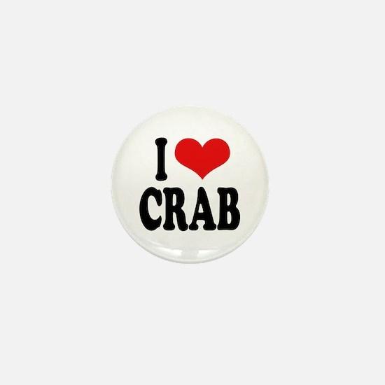 I Love Crab Mini Button