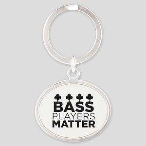Bass Players Matter Oval Keychain