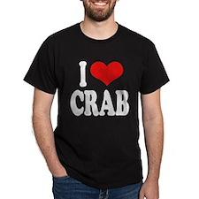 I Love Crab Dark T-Shirt