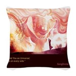 Month 7 Woven Throw Pillow