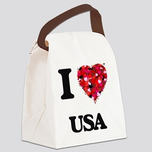 I love Usa Canvas Lunch Bag
