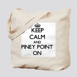 Keep calm and Piney Point Massachusetts O Tote Bag