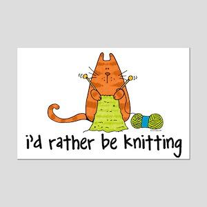 Rather be knitting Mini Poster Print