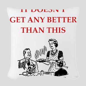 dining Woven Throw Pillow