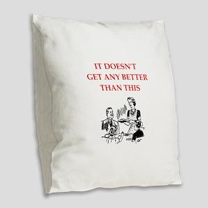 dining Burlap Throw Pillow