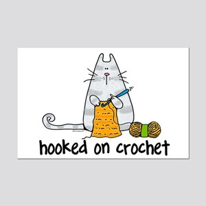 Hooked on crochet Mini Poster Print