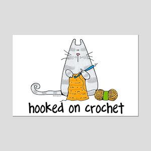 Hooked on crochet Mini Poster Print