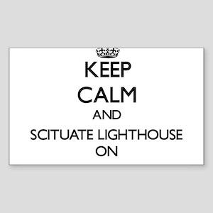 Keep calm and Scituate Lighthouse Massachu Sticker
