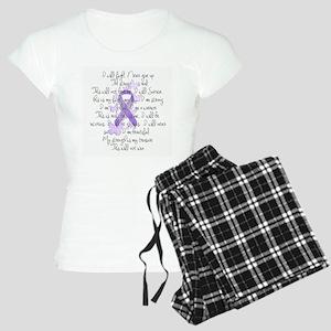 Purple Ribbon, poem Women's Light Pajamas