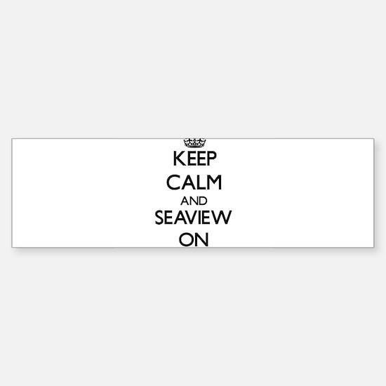 Keep calm and Seaview Massachusetts Bumper Bumper Bumper Sticker