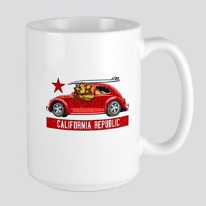 California Republic Surfer Bear Mugs
