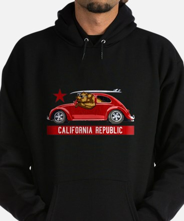 California Republic Surfer Bear Hoodie