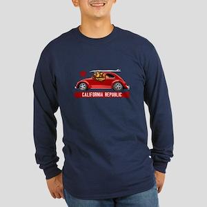 California Republic Surfer Bear Long Sleeve T-Shir