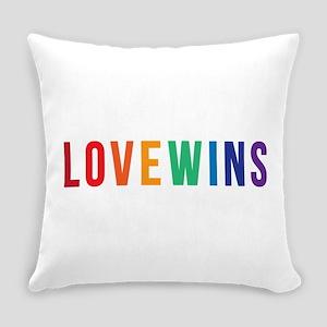 LOVE WINS Everyday Pillow