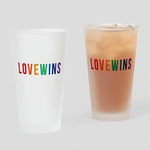 LOVE WINS Drinking Glass