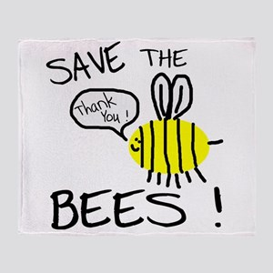 save the bees Throw Blanket