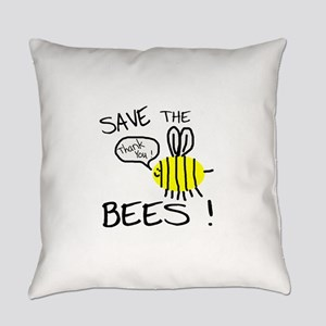 save the bees Everyday Pillow