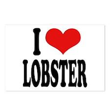 I Love Lobster Postcards (Package of 8)