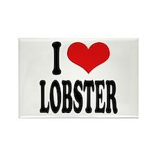 I Love Lobster Rectangle Magnet