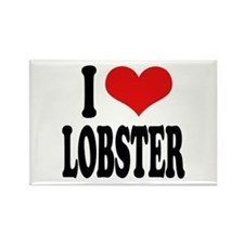 I Love Lobster Rectangle Magnet