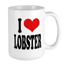 I Love Lobster Large Mug