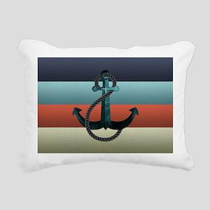 Nautical Anchor Flag Rectangular Canvas Pillow