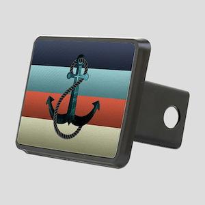 Nautical Anchor Flag Rectangular Hitch Cover