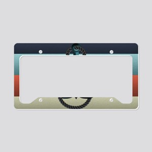 Nautical Anchor Flag License Plate Holder