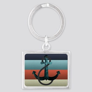 Nautical Anchor Flag Landscape Keychain
