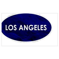 Los Angeles Blue Stone Canvas Art