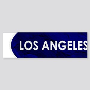 Los Angeles Blue Stone Bumper Sticker