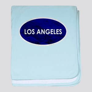 Los Angeles Blue Stone baby blanket
