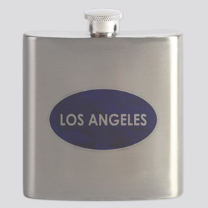 Los Angeles Blue Stone Flask